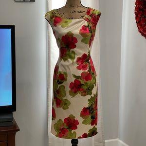 Evan Picone floral sheath dress size 8